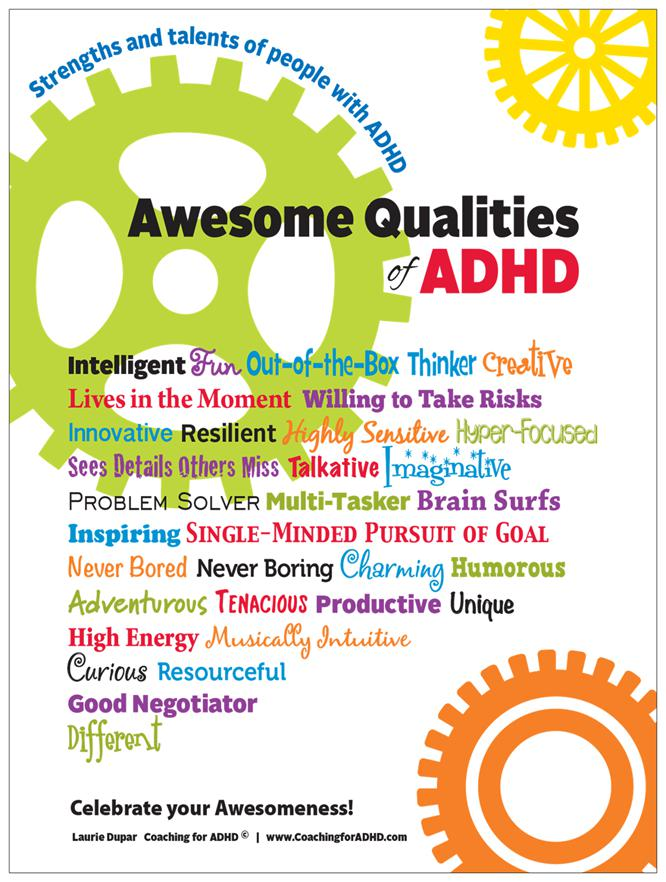 An Upside Of Having Adhd Outside Box >> Celebrate The Positive Qualities Of Adhd Laurie Dupar Coaching For